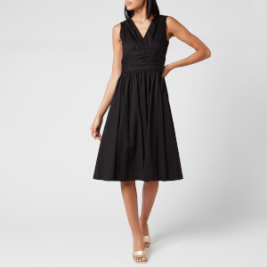 MICHAEL MICHAEL KORS Women's Poplin Midi Dress - Black