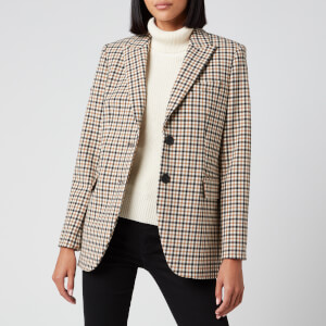 MICHAEL MICHAEL KORS Women's Airy Check Blazer - Bone