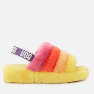 UGG Fluff Yeah Slippers Pride Capsule - Rainbow Yellow