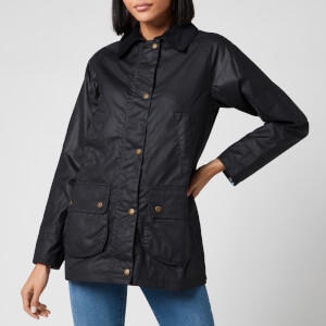 Barbour X Laura Ashley Women's Poplars Wax Jacket - Navy/Shepherds Purse