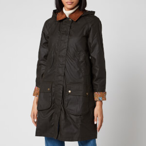 Barbour X Laura Ashley Women's Yews Wax Coat - Olive/Indienne