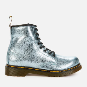 Dr. Martens Kids' 1460 Crinkle Metallic Lace-Up Boots - Teal