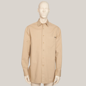 Lanvin Men's Oversized Chest Pocket Shirt - Sand