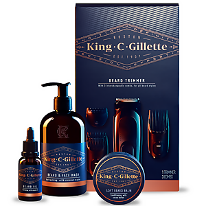 King C. Gillette Beard Trimmer & Beard Care Kit