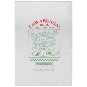Serviettes en cotton Tortues Ninja Cowabunga - Blanc
