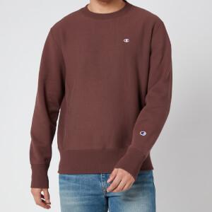 Champion Men's Reverse Weave Crewneck Sweatshirt - Burgundy