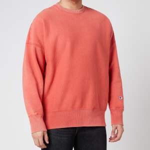 Champion Men's Garment Dye Crewneck Sweatshirt - Orange