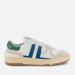 Lanvin Men's Tennis Low Trainers - White/Blue