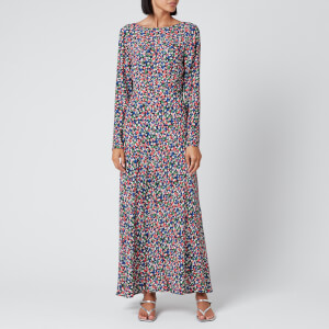 RIXO Women's Mimi Dress - Smudge Print