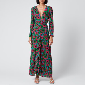 RIXO Women's Rose Midi Dress - Hibiscus Floral