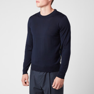Missoni Men's Line Detail Crewneck Jumper - Eclipse