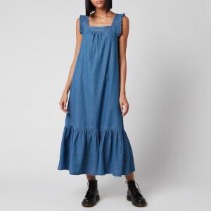 Whistles Women's Square Neck Trapeze Dress - Chambray