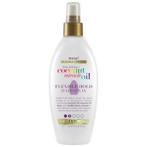 OGX Frizz-Defying+ Coconut Miracle Oil Flexible Hold Hairspray 177ml