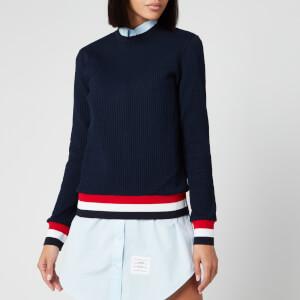 Thom Browne Women's Crew Neck Sweatshirt - Navy