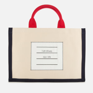 Thom Browne Women's Cotton Canvas Squared Tote Bag - Off White
