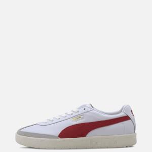 Puma Men's Oslo-City Prm Trainers - White/Whisper White/Grey Violet/High Risk Red