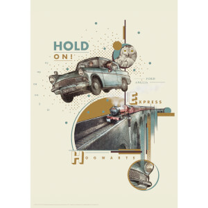 Harry Potter Premium Limited Edition Art Print : Weasly's Car