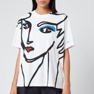 Victoria, Victoria Beckham Women's Beauty Face T-Shirt - White