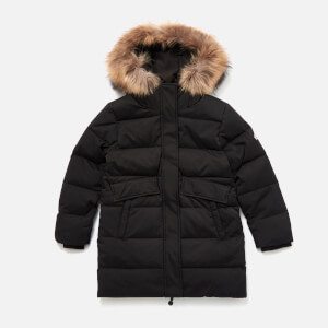 Pyrenex Girls' Grenoble Fur Parka - Black