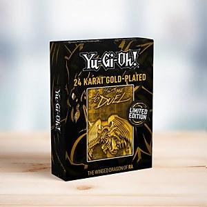 Carte Dieu Yu-Gi-Oh édition limitée - Dragon Ailé de Râ édition plaquée or 24k