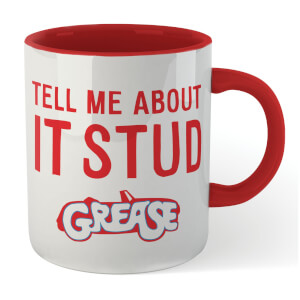 Grease Tell Me About It Stud Contrast Mug - White / Red