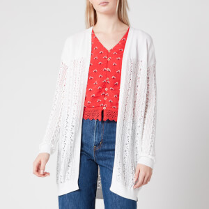 Superdry Women's Bella Pointelle Cardigan - Chalk White