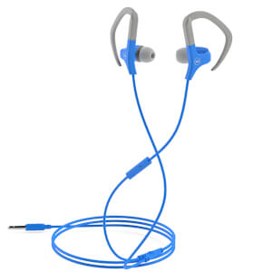 Mixx Cardio Sports Earphones with Mic Remote - Grey/Blue from I Want One Of Those