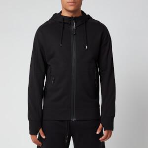 C.P. Company Men's Goggle Hooded Zip Jacket - Black
