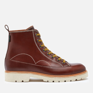 PS Paul Smith Men's Buhl Leather Lace Up Boots - Brown