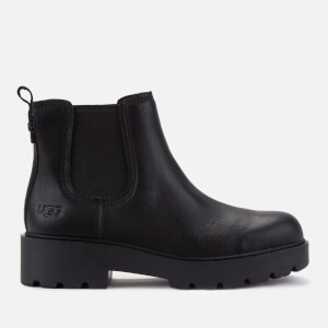 UGG Women's Markstrum Waterproof Leather Chelsea Boots - Black