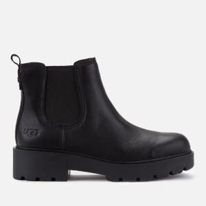 UGG Women's Markstrum Waterproof Leather Chelsea Boots - Black