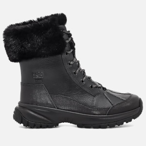 UGG Women's Yose Fluff Waterproof Leather Snow Boots - Black