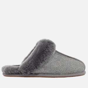 UGG Women's Scuffette Ii Caviar Sheepskin Slippers - Dark Grey