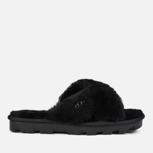 UGG Women's Fuzzette Sheepskin Slide Slippers - Black