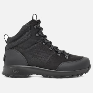 UGG Men's Emmett Waterproof Leather Hiking Style Boots - Black