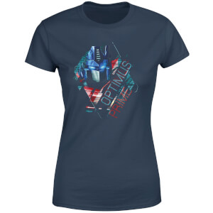 Transformers Optimus Prime Glitch Women's T-Shirt - Navy