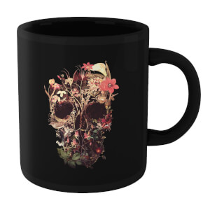 Ikiiki Bloom Skull Mug - Black