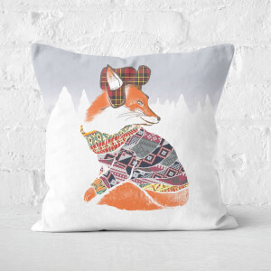 Ikiiki Winter Fox Square Cushion