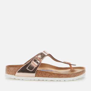 Birkenstock Womens's Gizeh Nl WB Sandals - Metallic Copper