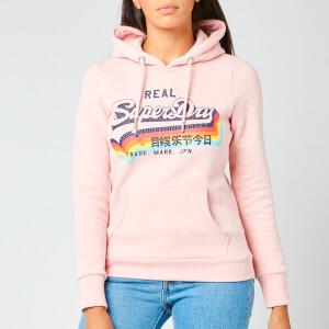 Superdry Women's Vl Ns Hoodie - Shell Pink Marl