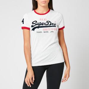 Superdry Women's Vl Varsity Ringer T-Shirt - Ice Marl