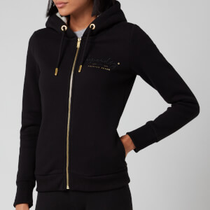 Superdry Women's Established Zip Hoodie - Black