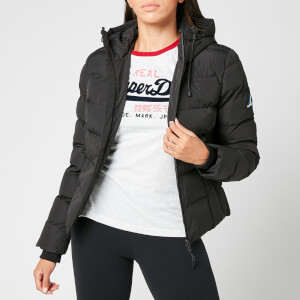 Superdry Women's Spirit Sports Puffer Jacket - Black