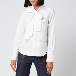 See By Chloé Women's Bow Tie Blouse - Confident White