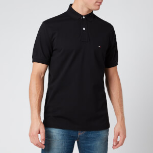 Tommy Hilfiger Men's Regular Fit Polo Shirt - Flag Black