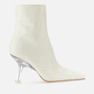 Simon Miller Women's Foxy Leather Heeled Boots - White