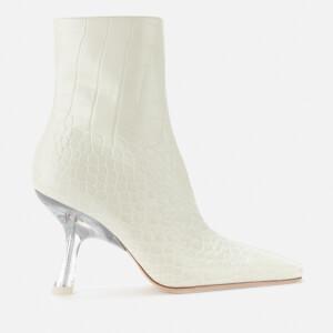Simon Miller Women's Foxy Leather Heeled Boots - White