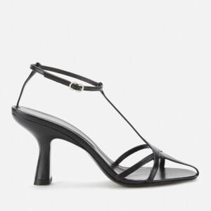 Simon Miller Women's Star Leather Heeled Sandals - Black