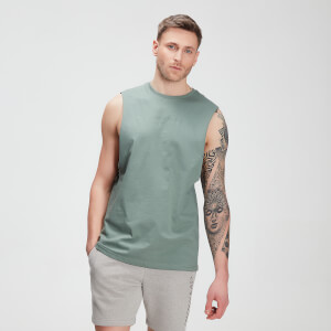 Camisola sem Mangas Tonal Graphic da MP para Homem – Washed Green
