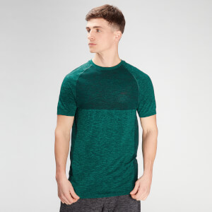 MP Men's Essential Seamless Short Sleeve T-Shirt- Energy Green Marl